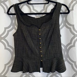 Free People Button Up Top